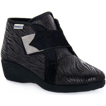 Sapatos Mulher Sapatilhas de cano-alto Emanuela 2302 VOX NERO Nero