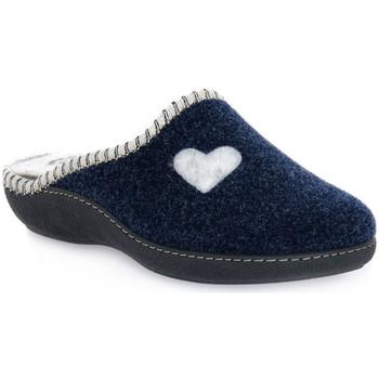 Sapatos Mulher Chinelos Emanuela 1800 BLU PANTOFOLA Blu