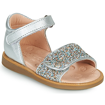 Sapatos Rapariga Sandálias Acebo's 1232-PLATA Prata