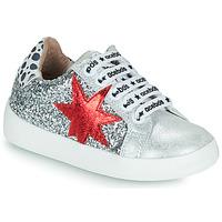 Sapatos Rapariga Sapatilhas Acebo's 5461GL-PLATA-J Prata