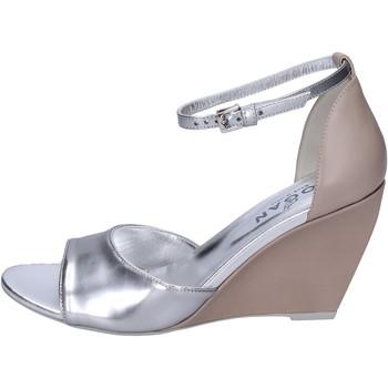 Sapatos Mulher Sandálias Hogan BK658 Prata