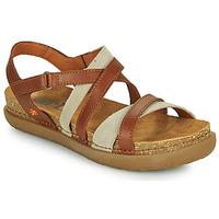 Sapatos Mulher Sandálias Art RHODES Castanho