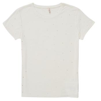 Textil Rapariga T-Shirt mangas curtas Only KONMOULINS Branco