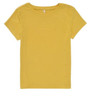 Textil Rapariga T-Shirt mangas curtas Only KONMOULINS Amarelo