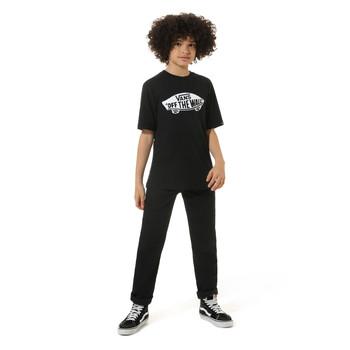 Textil Criança T-Shirt mangas curtas Vans VANS CLASSIC TEE Preto