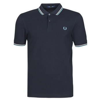 Textil Homem Polos mangas curta Fred Perry TWIN TIPPED FRED PERRY SHIRT Marinho / Branco / Azul