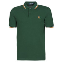 Textil Homem Polos mangas curta Fred Perry TWIN TIPPED FRED PERRY SHIRT Verde