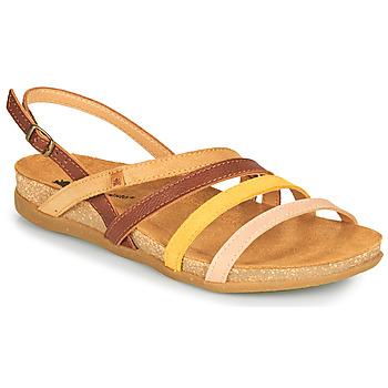 Sapatos Mulher Sandálias El Naturalista ZUMAIA Castanho / Amarelo / Rosa