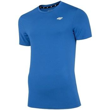 Textil Homem T-Shirt mangas curtas 4F TSMF002 Azul
