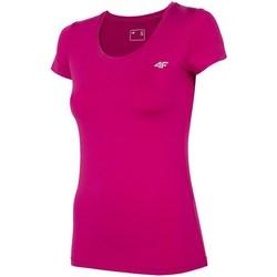 Textil Mulher T-Shirt mangas curtas 4F TSDF002 Cor-de-rosa