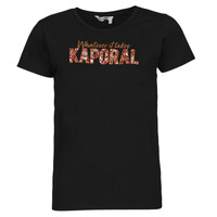 Textil Mulher T-Shirt mangas curtas Kaporal PENIN Preto