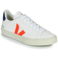 Sapatos Sapatilhas Veja CAMPO Branco / Laranja / Azul