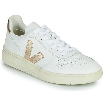 Sapatos Mulher Sapatilhas Veja V-10 Branco / Ouro