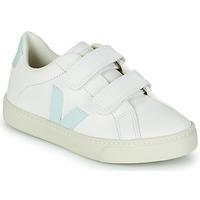 Sapatos Rapariga Sapatilhas Veja SMALL ESPLAR VELCRO Branco / Azul / Vermelho