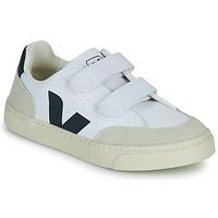 Sapatos Rapaz Sapatilhas Veja SMALL V-12 VELCRO Branco / Azul