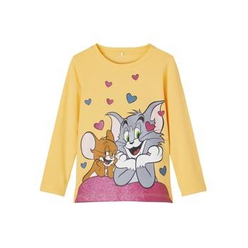 Textil Rapariga T-shirt mangas compridas Name it TOM&JERRY Amarelo