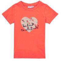 Textil Rapariga T-Shirt mangas curtas Name it NMFDELFIN TOP Coral