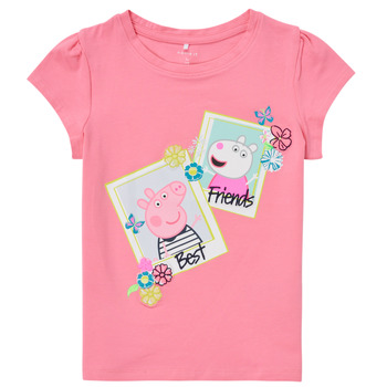 Textil Rapariga T-Shirt mangas curtas Name it PEPPAPIG Rosa