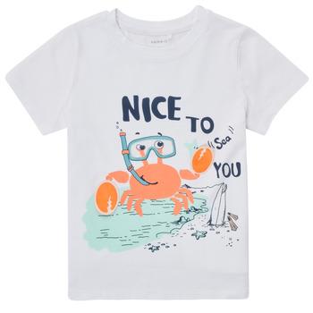 Textil Rapaz T-Shirt mangas curtas Name it NMMFANO Branco