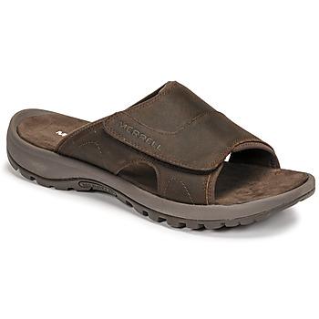 Sapatos Homem Chinelos Merrell SANDSPUR II SLIDE Castanho