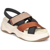 Sapatos Mulher Sandálias Vagabond Shoemakers ESSY Branco / Ferrugem / Preto