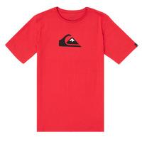 Textil Rapaz T-Shirt mangas curtas Quiksilver COMP LOGO Vermelho