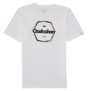 Textil Rapaz T-Shirt mangas curtas Quiksilver HARD WIRED Branco