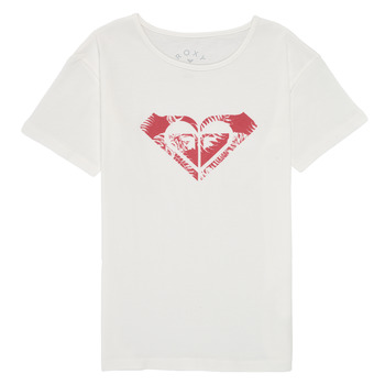 Textil Rapariga T-Shirt mangas curtas Roxy DAY AND NIGHT PRINT Branco
