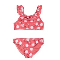 Textil Rapariga Biquíni Roxy TEENY EVERGLOW CROP TOP SET Rosa