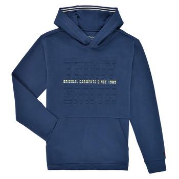 Textil Rapaz Sweats Teddy Smith S-RUN HOODY Marinho