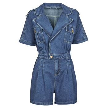 Textil Mulher Macacões/ Jardineiras Molly Bracken EL1261P21 Azul