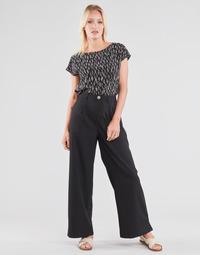 Textil Mulher Calças finas / Sarouels Molly Bracken EF1424P21 Preto