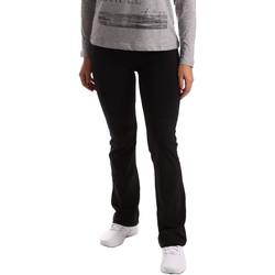 Textil Mulher Calças de treino Key Up 5LI20 0001 Preto