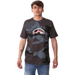 Textil Homem T-Shirt mangas curtas Sprayground SP01820BLA Preto