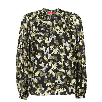 Textil Mulher Tops / Blusas S.Oliver 14-1Q1-11-4082-99A1 Preto / Multicolor