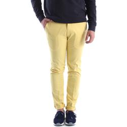 Textil Homem Chinos Sei3sei 6OYSTER E1648 Amarelo