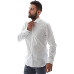 Textil Homem Camisas mangas comprida Gmf EQ2 1428 951106/01 Branco