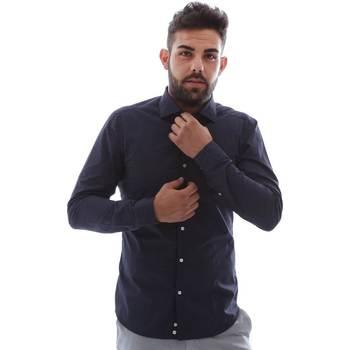 Textil Homem Camisas mangas comprida Gmf EQ2 1079 952151/02 Azul