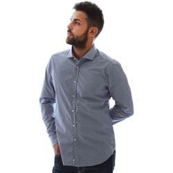 Textil Homem Camisas mangas comprida Gmf GMF3 3218 961153/01 Azul