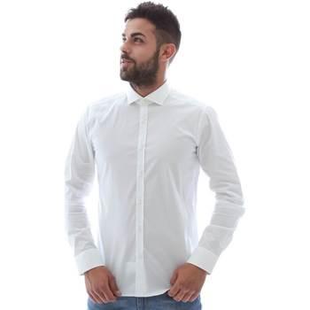 Textil Homem Camisas mangas comprida Gmf GMF5 4864 8 Branco