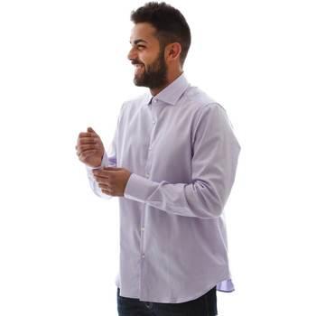 Textil Homem Camisas mangas comprida Gmf GMF5 4728 961105/04 Rosa