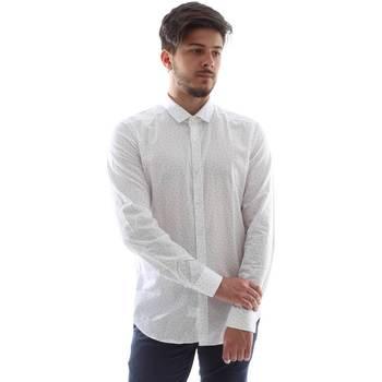 Textil Homem Camisas mangas comprida Gmf FS15 961138/1 Branco