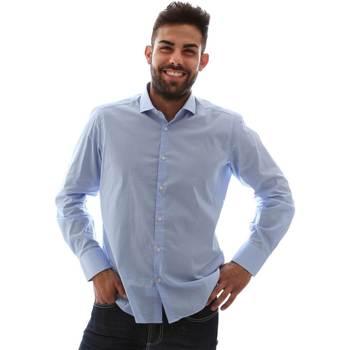 Textil Homem Camisas mangas comprida Gmf 961146/1 Azul
