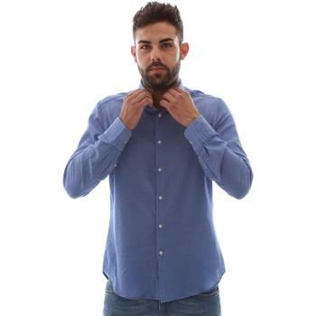 Textil Homem Camisas mangas comprida Gmf 961414/5 Azul