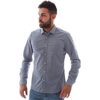 Textil Homem Camisas mangas comprida Gmf 961146/2 Azul