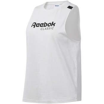 Textil Mulher Tops sem mangas Reebok Sport DT7235 Branco