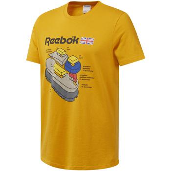 Textil Homem T-Shirt mangas curtas Reebok Sport DT8125 Amarelo