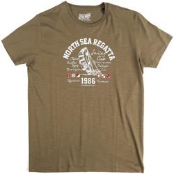 Textil Homem T-Shirt mangas curtas Key Up 2G78S 0001 Verde