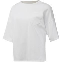 Textil Mulher T-Shirt mangas curtas Reebok Sport DU4048 Branco