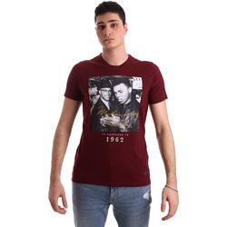 Textil Homem T-Shirt mangas curtas Gaudi 921BU64003 Vermelho